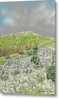 Metal Print featuring the digital art West Of The Hill Country by Kerry Beverly