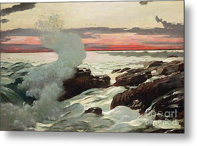 West Point Prouts Neck Metal Print by Winslow Homer