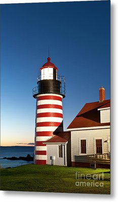West Quoddy Head Lighthouse Maine Metal Print by John Greim