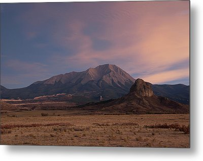 Metal Print featuring the photograph West Spanish Peak Sunset by Aaron Spong