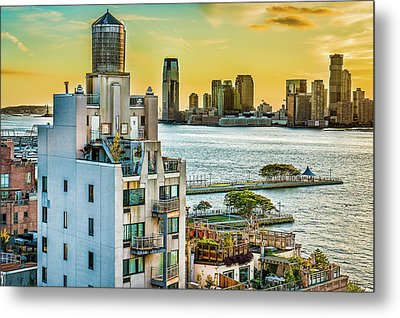 Metal Print featuring the photograph West Village To Jersey City Sunset by Chris Lord