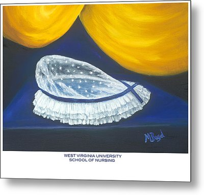 West Virginia University School Of Nursing Metal Print by Marlyn Boyd