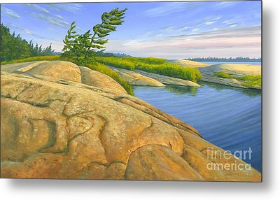 Metal Print featuring the painting Wind Swept by Michael Swanson