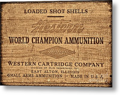 Western Ammunition Box Metal Print by American West Legend By Olivier Le Queinec