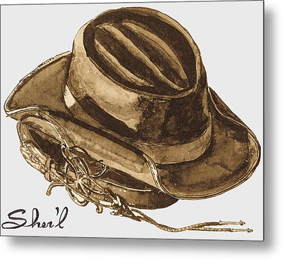 Metal Print featuring the painting Western Apparel by Sher'l