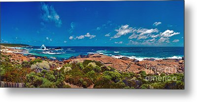 Metal Print featuring the photograph Western Australia Beach Panorama by David Zanzinger