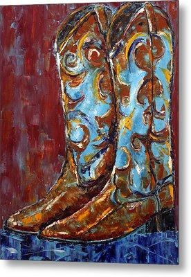 Western Boots Metal Print by Jennifer Godshalk