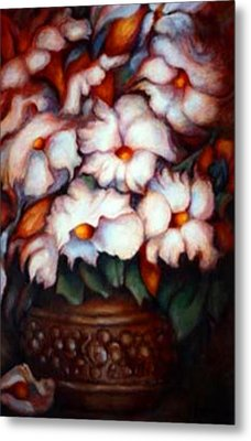 Western Flowers Metal Print by Jordana Sands