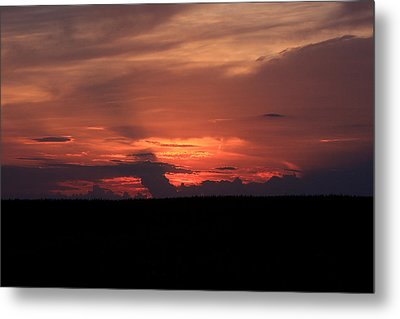 western Illinois Sunset Metal Print by Dave Clark