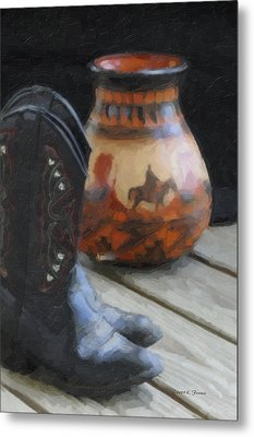 Metal Print featuring the photograph Western Still Life by Kenny Francis