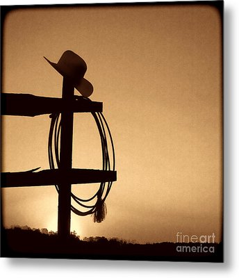 Western Sunset Metal Print by American West Legend By Olivier Le Queinec