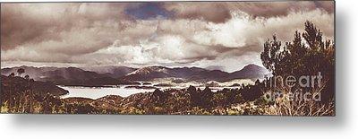 Western Tasmanian Lakes Landscape Metal Print