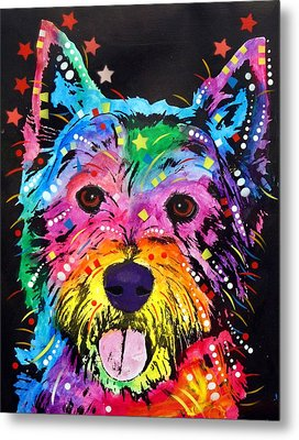 Metal Print featuring the painting Westie by Dean Russo