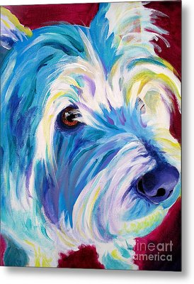 Westie - That Look Metal Print by Alicia VanNoy Call