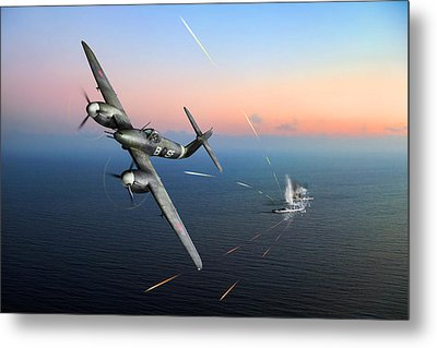 Metal Print featuring the photograph Westland Whirlwind Attacking E-boats by Gary Eason