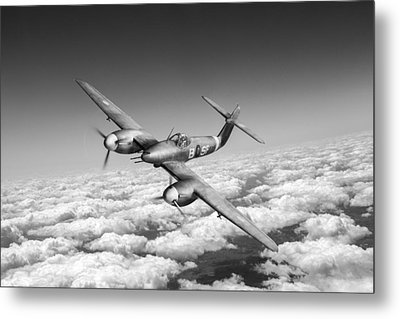 Metal Print featuring the photograph Westland Whirlwind Portrait Black And White Version by Gary Eason