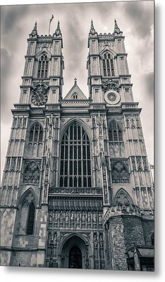 Westminister Abbey Bw Metal Print