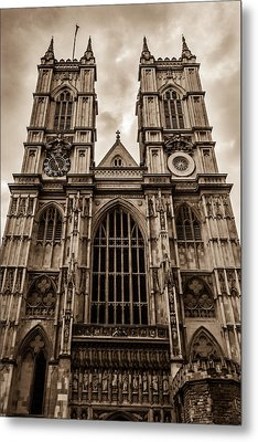 Westminister Abbey Sepia Metal Print