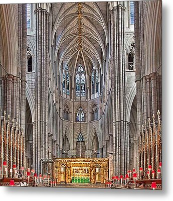 Metal Print featuring the photograph Westminster Abbey by Digital Art Cafe
