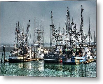 Westport Fishing Fleet - Washington Coast Metal Print by Greg Sigrist