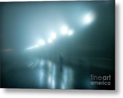 Wet Foggy Night Metal Print by John Greim