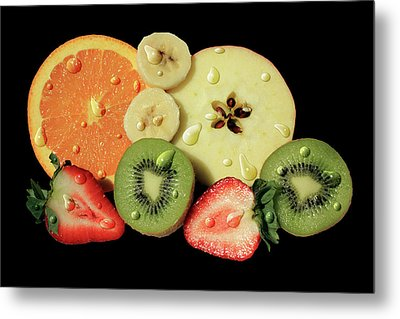 Metal Print featuring the photograph Wet Fruit by Shane Bechler