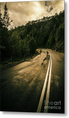 Wet Highland Road Metal Print by Jorgo Photography - Wall Art Gallery