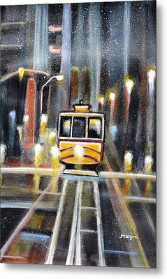 Wet Tram California Metal Print
