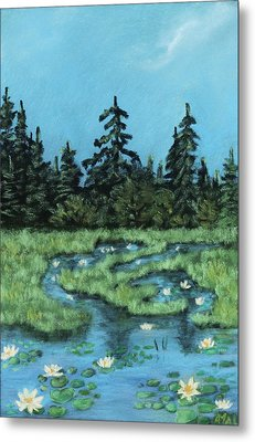 Metal Print featuring the painting Wetland - Algonquin Park by Anastasiya Malakhova