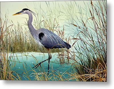 Metal Print featuring the painting Wetland Beauty by James Williamson