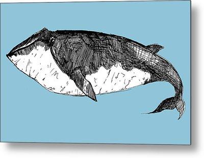 Whale Metal Print by Michael De Alba