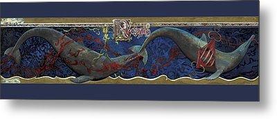 Whale Music Metal Print by Martin Tielli