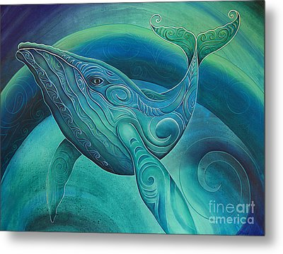 Whale By Reina Cottier Metal Print