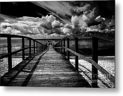 Wharf At Southend On Sea Metal Print by Avalon Fine Art Photography