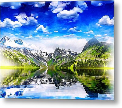 What A Beautiful Day Metal Print by Gabriella Weninger - David