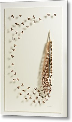 What Happens When You Tip A Feather Upside Down Metal Print by Chris Maynard