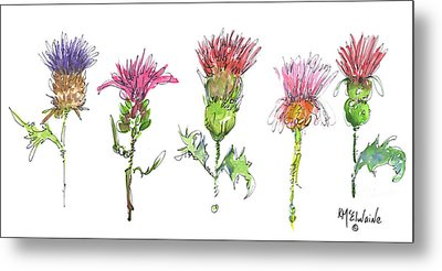 What Is It About A Thistle Metal Print