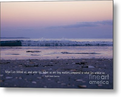 What Lies Behind Us... Metal Print