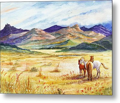 Metal Print featuring the painting What Lies Beyond by Marilyn Smith