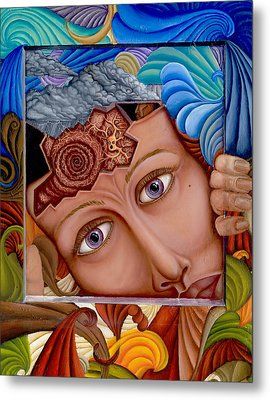 What The Mind Feels Metal Print by Karen Musick