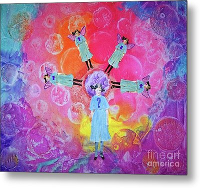 Metal Print featuring the mixed media What To Do by Desiree Paquette