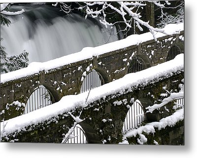 Whatcom Falls Winter 08 2 Metal Print