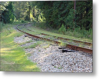 Whats Around The Bend Metal Print by Suzanne Gaff