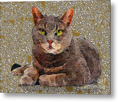 Buster Metal Print by Marcy  Orendorff