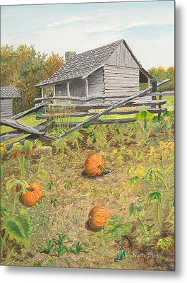 What's Left Of The Old Homestead Metal Print by Norm Starks