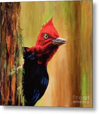 Metal Print featuring the painting Whats Up? by Igor Postash