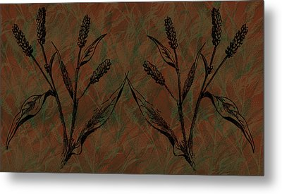 Wheat Field Metal Print by Evelyn Patrick
