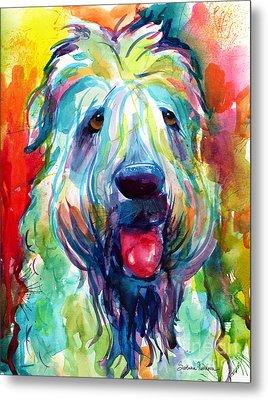 Wheaten Terrier Dog Portrait Metal Print by Svetlana Novikova