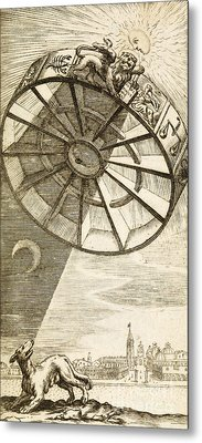 Wheel Of Fortune Descending, 1657 Metal Print by Wellcome Images