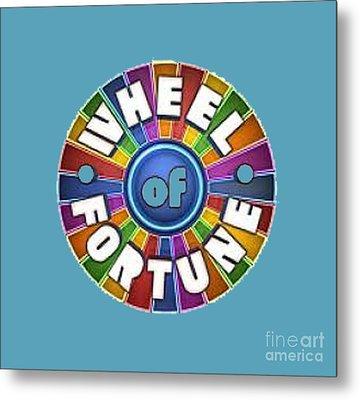 Wheel Of Fortune T-shirt Metal Print